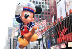 Macy's Thanksgiving Day Parade November 26, 2009. MANHATTAN - NOVEMBER 26 : A Sailor Mickey Mouse balloon passing Times Square at the Macy's Thanksgiving Day Royalty Free Stock Photo