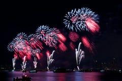 Macy 4to de los fuegos artificiales de julio Foto de archivo libre de regalías