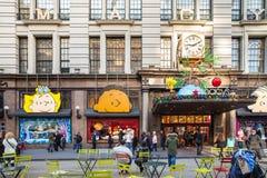 Macys纽约圣诞节 免版税库存照片