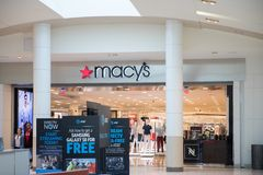 Macys Department Store. Macy`s, Inc. is one of the Nation`s Premier Omnichannel Retailers I. Miami, Florida January 15, 2018: Macys Department Store. Macy`s, Inc Stock Photography