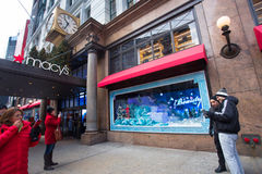 Macys NYC Christmastime Stock Image