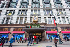 Macys NYC Christmastime Stock Images