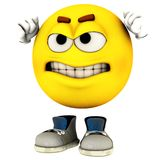 Mad. The character called emotiguy in his distinct pose and one of his range of expression Royalty Free Stock Images