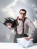 Mad accountant Stock Image