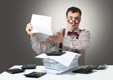 Mad accountant Stock Photos