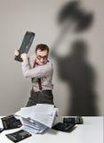 Mad accountant Royalty Free Stock Photo