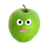 Mad apple. Over white background Stock Photos