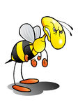 Mad as a hornet. Illustration of an angry hornet over isolated white background vector illustration