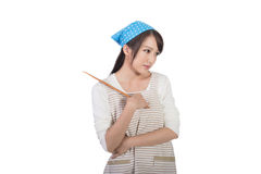Mad Asian housewife Royalty Free Stock Photography