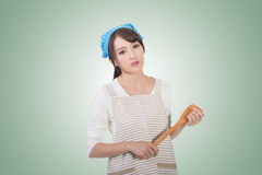 Mad Asian housewife Royalty Free Stock Image