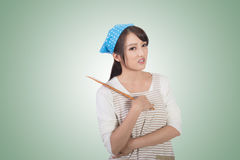 Mad Asian housewife Royalty Free Stock Photos
