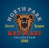 Mad bears team Royalty Free Stock Images