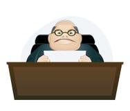 Mad boss Stock Image