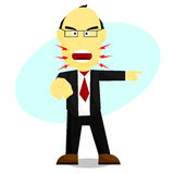 Mad Boss. File format is eps 10 Stock Photo