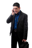 Mad business man on phone Stock Photography