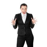 Mad business woman Royalty Free Stock Image