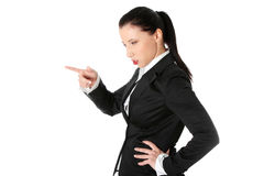Mad business woman Stock Photography
