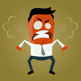 Mad cartoon man. Funny illustration of a mad cartoon man Stock Photos