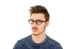 Mad casual man Royalty Free Stock Images