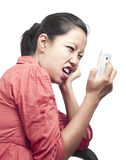 Mad at Cellphone Network Stock Image