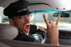 Mad chauffeur Royalty Free Stock Photography