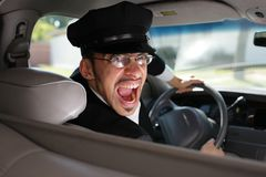 Mad chauffeur Royalty Free Stock Photo
