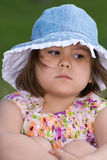 Mad Child. Closeup view of a mad four year old when she was outside Royalty Free Stock Photography