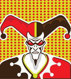 Mad Clown Royalty Free Stock Photo