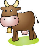 Mad cow cartoon Stock Images