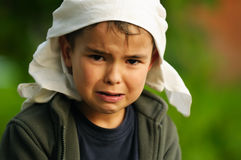 Mad crying kid Royalty Free Stock Photos