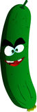 Mad cucumber or pickle Royalty Free Stock Image