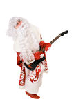 Mad Ded Moroz plays on broken guitar Stock Image