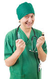 Mad doctor Royalty Free Stock Image