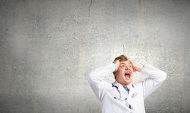 Mad doctor Royalty Free Stock Photos