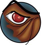Mad Dog eye. Eye from a mad dog, evil eye vector illustration