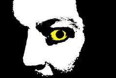 Mad eye. Furious eyeball - vector image vector illustration