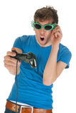 Mad gaming Royalty Free Stock Photography