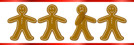 Mad Ginger Bread Man Royalty Free Stock Image