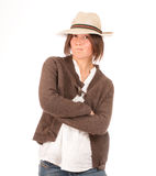 Mad girl with hat Stock Photography