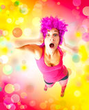 Mad girl shouts. Royalty Free Stock Images