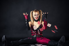 Mad harlequin Stock Photos