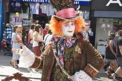 Mad Hatter在坎登,伦敦,英国 库存照片