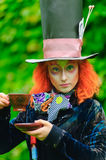 Mad Hatter. From a fairy tale Alice in Wonderland Stock Photo