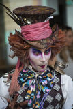 Mad Hatter. From a fairy tale Alice in Wonderland in theatre festival at haifa  israel Royalty Free Stock Photos