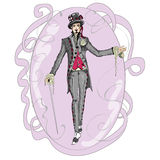 The Mad Hatter. Inspired by Alice in Wonderland , The Mad Hatter stock illustration