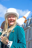 Mad Hatter at Inverness Vintage car Rally. Mad Hatter, an entertainer,  at Inverness Vintage  car Rally held on 12 th May 2012 Stock Photos