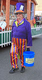 Mad hatter. Photo of the mad hatter character out of alice in wonderland collecting money for whitstable carnival charity Royalty Free Stock Images