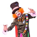 Mad hatter`s different facial emotions. Close-up portrait of smi Stock Photo