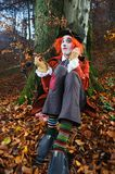 Mad Hatter sitting under a tree. Image of Mad Hatter from a themed shoot of Alice in Wonderland Stock Photos