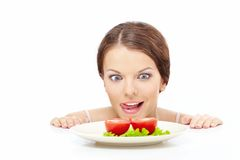 Mad hunger Royalty Free Stock Image